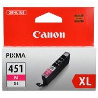 Картридж оригинальный (увеличенного объема) пурпурный (magenta) Canon CLI-451XL M, ресурс 680 стр.