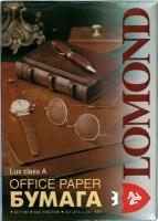 Офисная бумага Lomond Lux A4 80g/m, 500 лист. 98 процент(ов) белизны. Артикул 0101002.