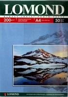 Lomond 0102020 Односторонняя глянцевая фотобумага  для струйной печати, A4, 200 г/м2, 50 листов.