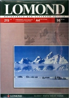 Lomond 0102057 Односторонняя глянцевая фотобумага для струйной печати, A4, 215 г/м2, 50 листов.
