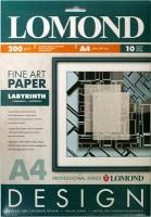 Lomond 0923041 Labyrinth -Лабиринт -односторонняя Матовая ,ярко-белая, A4 200g/m 10 листов ,