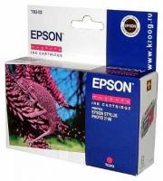 Картридж оригинальный (в технологической упаковке) пурпурный (magenta) Epson T0343, ресурс 440 стр.