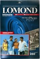 Lomond 1103101 (Super Glossy Bright)- односторонняя Суперглянцевая  ,ярко-белая , A4 260g/m, 20 лист