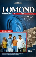 Lomond 1103104 (Super Glossy Bright) односторонняя Суперглянцевая ,ярко-белая  A5 260g/m, 20 лист.