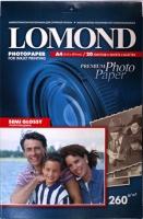Lomond 1103301 (Semi Glossy Bright)- односторонняя Полуглянцевая ,ярко-белая A4 260g/m, 20 лист.