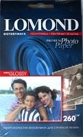 Lomond 1103302 (Semi Glossy Bright)-односторонняя, Полуглянцевая ,ярко-белая A6 260g/m, 20 лист.