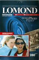 Lomond 1104101 (Super Glossy Warm)-односторонняя Суперглянцевая тепло-белая A4 280g/m, 20 лист.
