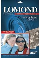 Lomond 1104102 (Super Glossy Warm)- односторонняя Суперглянцевая тепло-белая A3 280g/m, 20 лист.