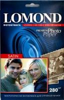 Lomond 1104205 (Satin Warm)-Cатин (полуглянц) односторонняя  Атласная тепло-белая, А 5 (15*21), 280 г/м, 20 л.