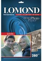 Lomond 1104230 (Satin Warm)- Cатин-односторонняя  Атласная тепло-белая A3 280g/m, 20 лист.,