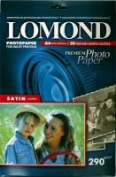 Lomond 1108200 (Satin Bright)-Сатин- односторонняя Атласная ярко-белая A4 290g/m, 20 лист.