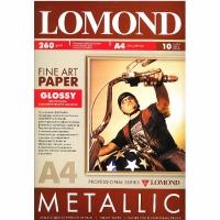 Бумага Lomond 0939042 глянцевая с металлическим блеском, А4, 260 г/м2, 10 л.