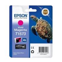 Картридж оригинальный (в технологической упаковке) пурпурный (magenta) Epson T1573 XL / C13T15734010, объем 25,9 мл.
