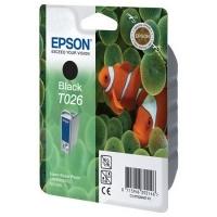 Картридж оригинальный (в технологической упаковке) черный Epson T026 black, ресурс 540 стр.