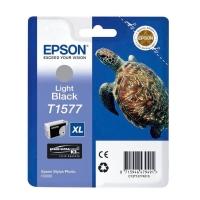 Картридж оригинальный (в технологической упаковке) серый/светло-черный (light black) Epson T1577 XL / C13T15774010, объем 25,9 мл.