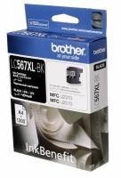 Картридж оригинальный Brother LC-567XL-Bl, ресурс 1200 стр.