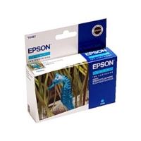 Картридж оригинальный (в технологической упаковке) голубой (cyan) Epson T0482, ресурс 430 стр.