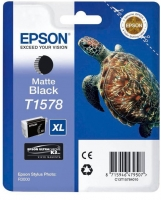 Картридж оригинальный (в технологической упаковке) матовый черный (matte black) Epson T1578 XL / C13T15784010, объем 25,9 мл.