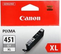 Картридж оригинальный (увеличенного объема) серый (grey) Canon CLI-451XL GY, ресурс 530 стр.