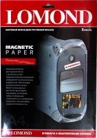 Lomond 2020346 (Magnetic Paper Matte) односторонняя белая Матовая бумага с Магнитным слоем  А4. 2 листа.