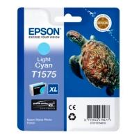 Картридж оригинальный (в технологической упаковке) светло-голубой (light cyan) Epson T1575 XL / C13T15754010, объем 25,9 мл.