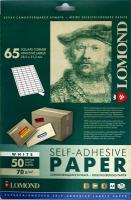 Lomond 2100215 универсальная матовая самоклеящаяся деленая бумага 65 частей(38 x 21.2 мм), 70 г/м2, 50 листов