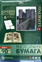 Lomond 2210033 Самоклеящаяся матовая бумага 6 частей (105 x 99 мм),A4  90g/m, 25 лист.,