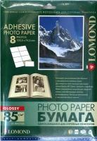 Lomond 2410043 Самоклеящаяся Глянцевая бумага 8 делений (105 x 74.3 мм), A4  85g/m, 25 лист