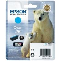 Картридж оригинальный голубой Epson T2612 Cyan, ресурс 300 стр.