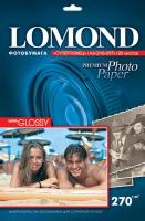 Lomond 1106100 (Super Glossy Bright)-односторонняя Суперглянцевая ярко-белая A4 270g/m,  20 лист.