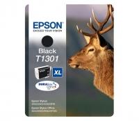 Картридж оригинальный (в технологической упаковке) черный (black) Epson T1301 XL / C13T13014010, объем 25,4 мл.