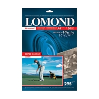 Lomond 1108101 (Super Glossy Warmt) двухсторонняя, суперглянцевая , белая теплая, A4, 295g/m, 20 лист.