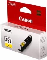 Картридж оригинальный желтый (yellow) Canon CLI-451Y, объем 7 мл.