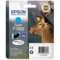 Картридж оригинальный (в технологической упаковке) голубой (cyan) Epson T1302 XL / C13T13024010, объем 10,1 мл.