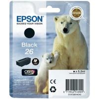 Картридж оригинальный черный Epson T2601 Black, ресурс 220 стр.