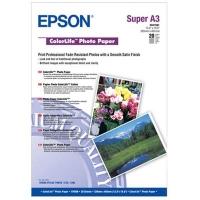Бумага Epson S041561 (ColorLife Photo Paper) полуглянцевая,  A3+, 245 г/м2, 20 л.