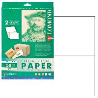 Lomond 2100225 универсальная матовая самоклеящаяся деленая бумага  A4, 2 шт. (210 x 148.5 мм), 70 г/м2, 50 листов.