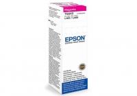 Контейнер оригинальный (в технологической упаковке) с пурпурными чернилами (magenta) Epson C13T66434A / T6643, объем 70 мл.