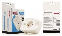 Сетевой фильтр Buro 100SH-W  (1 розетка) белый