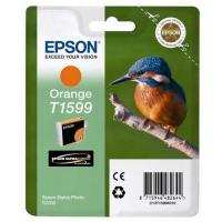 Картридж оригинальный (в технологической упаковке) оранжевый (orange) Epson T1599 / C13T15994010, объем 17 мл.