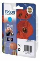 Картридж оригинальный (в технологической упаковке) голубой (cyan) Epson T1712 17XL / C13T17124A10, объем 6,6 мл.
