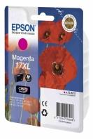 Картридж оригинальный (в технологической упаковке) пурпурный (magenta) Epson T1713 17XL / C13T17134A10, объем 6,6 мл.