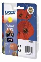 Картридж оригинальный (в технологической упаковке) желтый (yellow) Epson T1714 17XL / C13T17144A10, объем 6,6 мл.