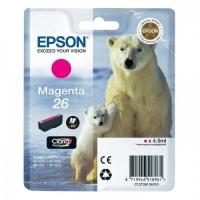 Картридж оригинальный пурпурный Epson T2613 Magenta, ресурс 300 стр.