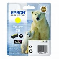 Картридж оригинальный желтый Epson T2614 Yellow (C13T26144010), ресурс 300 стр.