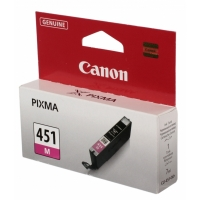 Картридж оригинальный пурпурный (magenta) Canon CLI-451M, объем 7 мл.