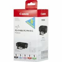 Комплект картриджей оригинальный Canon PGI-9 Multipack (Bk, PC, PM, R, G), емкость 5*14 мл.