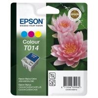 Картридж оригинальный (в технологической упаковке) цветной Epson T014 color, ресурс 150 стр.