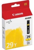 Картридж оригинальный желтый (yellow) Canon PGI-29Y, емкость 36 мл.