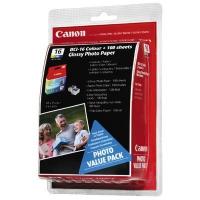 Комплект картриджей оригинальный Canon BCI -16 Color (двойная упаковка) + Glossy Paper (100 листов 10*15) (9818A017)